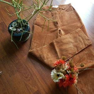 VINTAGE BROWN SOFT LEATHER PANTS!